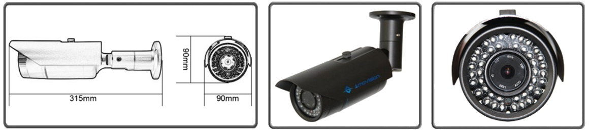 Amovision AM-C7325 Dimensions image
